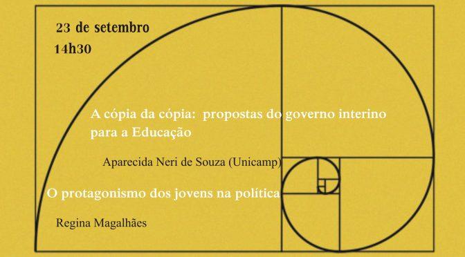 """Seminário """"Os Tempos do social e da política"""" – Sessão 1 (23 de setembro de 2016)"""