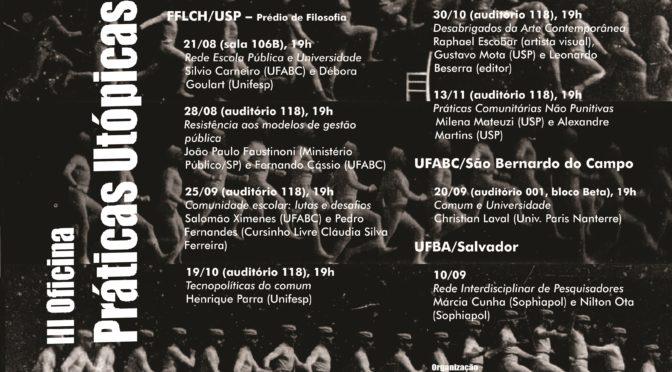 III OFICINA PRÁTICAS UTÓPICAS (AGO – NOV 2018)